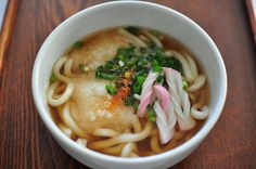 age mochi udon  fried mochi, kamaboko, udon.