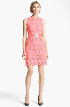 Christopher Kane Pink Safety Belt Lace Minidress