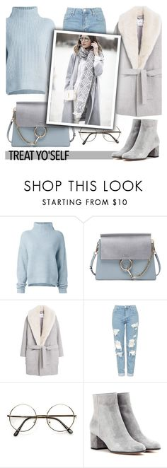 """""""Treat yo'self. Winter❄️"""" by sati199308 ❤ liked on Polyvore featuring Le Kasha, Chloé, MANGO, Topshop and Gianvito Rossi"""