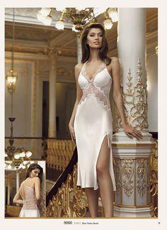 Perin 8060 Satin Sechser Set mit Rüschen - li n Lingerie Vintage, Bride Lingerie, Lingerie Fine, Lingerie Outfits, Pretty Lingerie, Women Lingerie, Beautiful Lingerie, Girls Night Dress, Night Gown