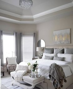 43 Dreamy Master Bedroom Ideas and Designs is part of Beautiful bedrooms master To get a better bedroom decor, you have to have an outline of precisely what the bedroom design will entail If your k - Small Room Bedroom, Bedroom Sets, Home Decor Bedroom, Bedroom Furniture, Master Bedroom, Small Rooms, Master Suite, Bedroom Storage, Bed Room