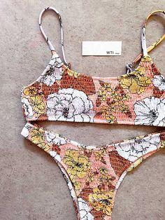 Summer Bathing Suits, Cute Bathing Suits, Summer Suits, Cute Swimsuits, Cute Bikinis, Crop Top Bikini, Scrunch Bikini, Bikini Swimsuit, Bikini Bottoms