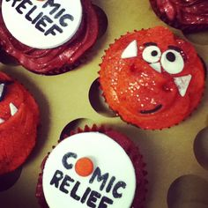 Amazing cakes made by staff for Comic Relief Photo by #derbyuni
