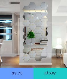 Cheap mirror wall stickers, Buy Quality mirror wall stickers directly from China wall sticker Suppliers: Super Deal Hexagonal Mirrors Wall Stickers Home Decor Living Room DIY Modern Art Mirror Wall Mural Decoration Vinyl Sticker 3d Mirror Wall Stickers, Wall Stickers Home Decor, Home Wall Decor, Wall Decals, Wall Mural, Sticker Vinyl, Living Room Mirrors, Living Room Decor, Bedroom Decor