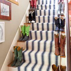 MASINFINITO CASA - Alfombra Dash & Albert Blue Awning Stripe Woven Cotton