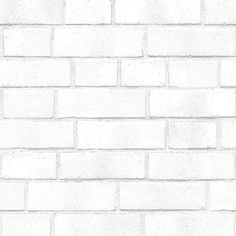 Textured Brick Self-Adhesive Removable Wallpaper Double Roll White | Vinyl