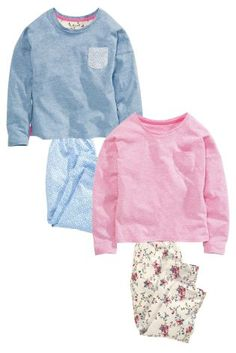 Buy Two Pack Woven Bottom Pyjamas (3-16yrs) from the Next UK online shop