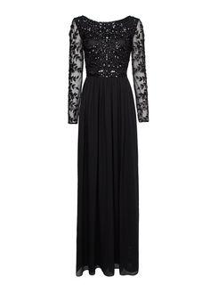 MANGO - Sukienka długa z szyfonu zdobiona kamieniami