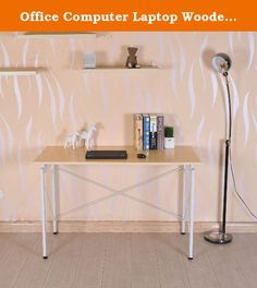 """Office Computer Laptop Wooden Desk Study Table Workstation Home Furniture. Material: MDF metal Color: Maple Wood Bronze White(920-001WT) Net weight: 37lbs Weight capacity: 110lbs Dimension: 47.2""""W ¡Á 23.6""""D ¡Á 30""""H Plastic foot pad: 1.4"""" Table top thickness: 0.7"""" Foot: 2""""L ¡Á 0.8""""W 0.4"""" thick Table top support square tube: 0.8"""" ¡Á 0.8"""" 0.3"""" thick Side support metal wire: 0.2"""" Rear side support metal wire: 0.3""""This sleek desk features metal bars with an attractive X-design that enhances…"""