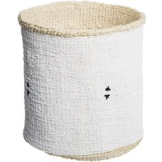 Otago - Kikapu Cha Shanga Beaded Basket (470 CAD) ❤ liked on Polyvore featuring home, home decor, small item storage, handmade woven baskets, otago, handmade baskets, hand made baskets and woven basket