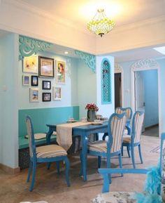 Mediterranean style dining room