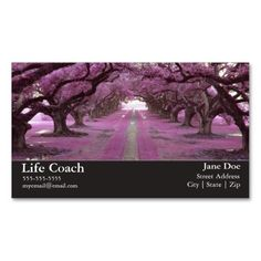 Life Coach Business Card. Make your own business card with this great design. All you need is to add your info to this template. Click the image to try it out!