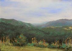 Blue Ridges Painting 47 - Pastel by Joanne Labato Stone