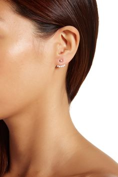 Obsessed with these Gorjana 18K Gold Plated Classic Shimmer Jacket Earrings