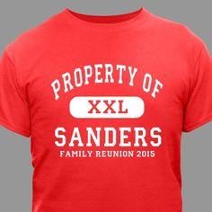 Family Reunion T-shirt | Personalized Family Reunion T-shirt