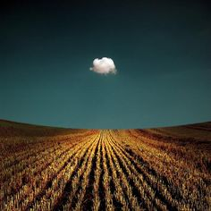 lonely cloud - temporal moment - great contrast in color