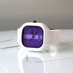 Look cutting edge in this space age watch.