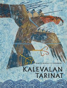 "illustration : Aleksander Lindeberg, ""Tales of the Kalevala"", monstre Art And Illustration, Runes Futhark, Cover Art, Franz Marc, Greek Art, Children's Picture Books, Book Cover Design, Art Inspo, Illustrators"
