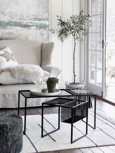 Solna Coffee & Side Tables Nordic Furniture, Scandinavian Furniture, Luxury Furniture, Living Room Designs, Living Spaces, Living Rooms, Types Of Sofas, Living Room Chairs, Side Tables