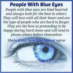 Blue eyed people are the best. My sons had beautiful blue eyes! Baby Girl Blue Eyes, Blue Eyed Girls, Baby Blue, Blue Eye Facts, Facts About Blue Eyes, Eye Color Facts, Weird Facts, Fun Facts, Random Facts