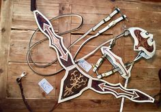 Le chouchou de ma boutique https://www.etsy.com/ca-fr/listing/586182078/real-white-cow-leather-horse-tack