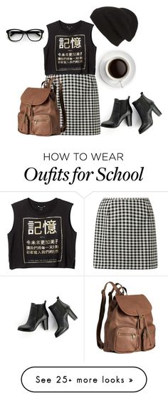 """""""School [Girl]"""" by lovemelikeyourlast on Polyvore featuring MANGO, Phase 3, Monki and H&M"""