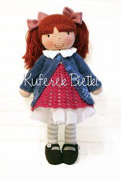 Ronja, lalka na szydełku /Ronja, Gehäkelte Puppe (42 cm)
