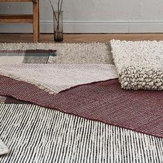 Udana wool rug [Natural white/Black/Light grey] – Rug making Silver Grey Carpet, Fluffy Rug, Striped Rug, White Rug, Natural Rug, Grey Rugs, Rugs Online, Rugs In Living Room, Rug Making