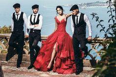 Abito da sposa rosso alessandro couture