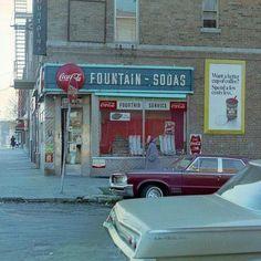 The neighborhood candy store in East New York. Vintage New York, Brooklyn New York, New York City, Old Photos, Vintage Photos, Ny Ny, I Love Ny, Staten Island, Coney Island