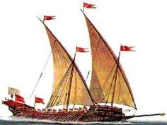 (20) Barco egipcio con velas latinas, (20) Barco egipcio con velas latinas, El origen de las velas es muy antiguo, quizá casi tanto como la navegación. En el antiguo Egipto se le atribuía su invención a la diosa Isis, a la que cuando buscaba a su hijo, con el objeto de apresurar más el viaje, se le ocurrió elevar un palo en medio de la embarcación y poner en él un lienzo capaz de recibir el viento. Para los griegos fueron los inventores: Dédalo cuando se escapó del laberinto de Creta y Eolo,