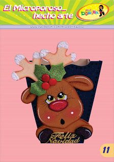 Christmas Gift Bags, Felt Christmas, Christmas Crafts, Christmas Decorations, Christmas Stuff, Felt Patterns, Corpus Christi, Ideas Para, Reindeer