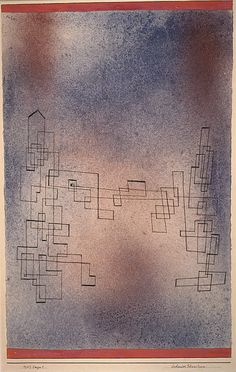 Paul Klee 'Drohender Schneesturn' [Threatening Snowstorm]  1927  Pen and coloured inks and watercolour on paper laid on card