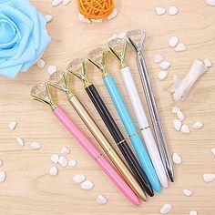 Large Carat Diamond Metal Pen