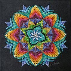 Check out this item in my Etsy shop https://www.etsy.com/listing/587561359/blazing-snowflake-mandala-acrylic