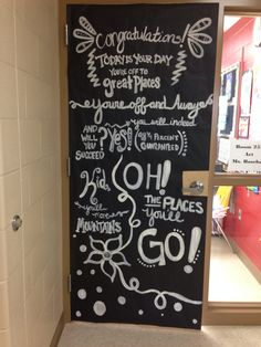 Dr. Seuss Door, read across America, oh the places you'll go.