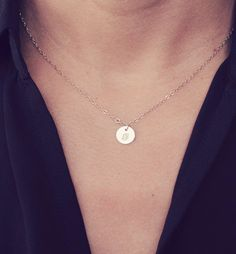 Gold Initial Necklaces From @daintylayers