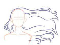Drawing Hair Tips Hair moviment Cool Art Drawings, Pencil Art Drawings, Art Drawings Sketches, Drawing Body Poses, Drawing Practice, Drawing Tips, Anime Poses Reference, Hair Reference, Wie Zeichnet Man Manga