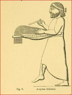 Assyrian musician like a Santoor string instrument
