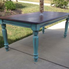 Love doing farm tables...especially in Turquoise!!!
