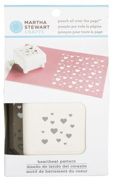 Martha Stewart Punch All Over the Page - Heartbeat Pattern - Hearts