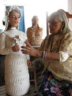 Boneca de dona Izabel, consagrada escultora mineira