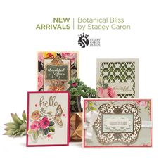 New Arrivals! Stacey Caron's Botanical Bliss Collection: http://bit.ly/295pvNF?utm_campaign=coschedule&utm_source=pinterest&utm_medium=Spellbinders