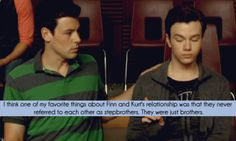 glee episode furt | think one of myfavorite things about Finn and Kurt's relationship ...
