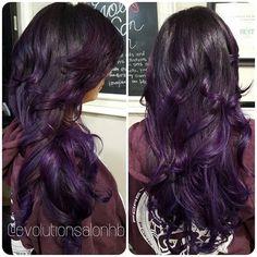 Deep purple ombré