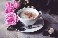 #roses #breakfast #morning #coffee