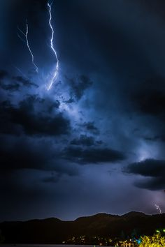 Thunderstrom over Millstätter See Austria, Clouds, Night, Outdoor, Outdoors, Outdoor Games, The Great Outdoors, Cloud