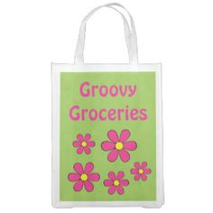 custom reusable convenient tote bags ~ folds up! ~ both sides can be designed, or select from many groovy designs like this one! ;D  take your hippie with you wherever you go!