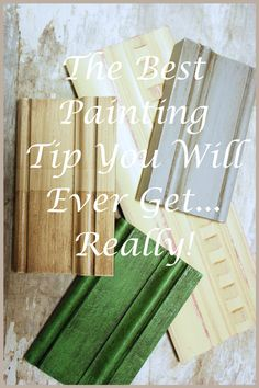 """StoneGable: THE BEST PAINTING TIP YOU WILL EVER GET...use 4-5"""" piece crown molding as practice board - write technique on back (using Annie Sloan chalk paint"""