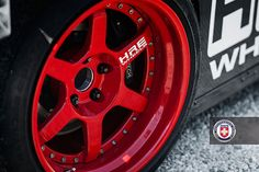 # Acura NSX with HRE C96S in Gloss Red
